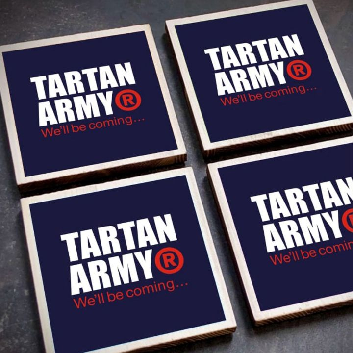 Tartan Army Coasters (Pack of 4)