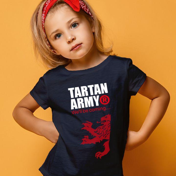 Girls Navy Classic T-Shirt