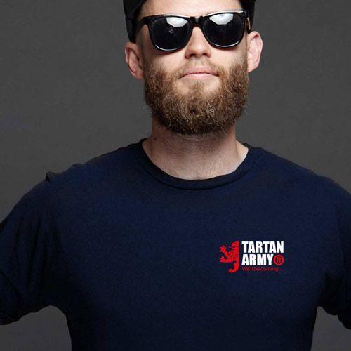 Tartan Army Joint Small Logo Gents Navy T-Shirt